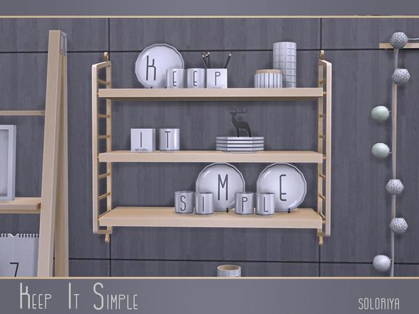 Keep It Simple set by soloriya at TSR image 3222 Sims 4 Updates