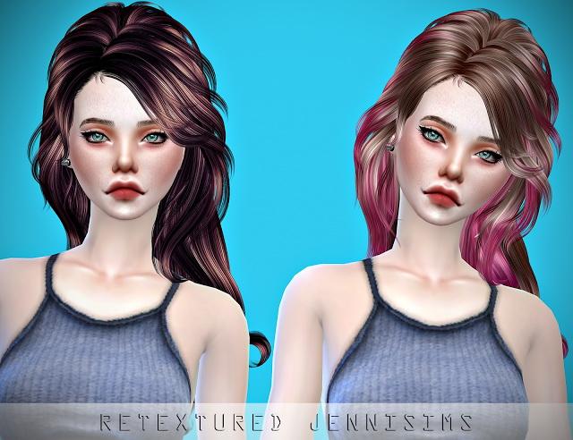 Sims 4 Newsea VirginSnow Hair retexture at Jenni Sims