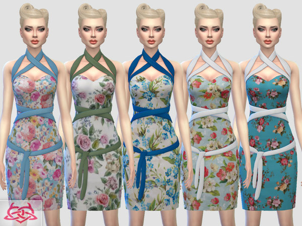 Mozzy dress recolor 3 by Colores Urbanos at TSR image 3228 Sims 4 Updates