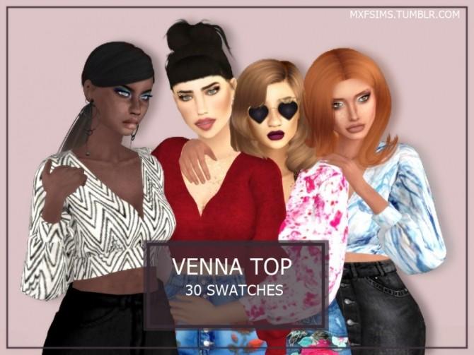 Sims 4 VENNA TOP at MXFSims