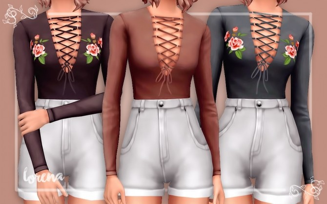 Crop top recolors at Seven Sims image 3292 670x419 Sims 4 Updates