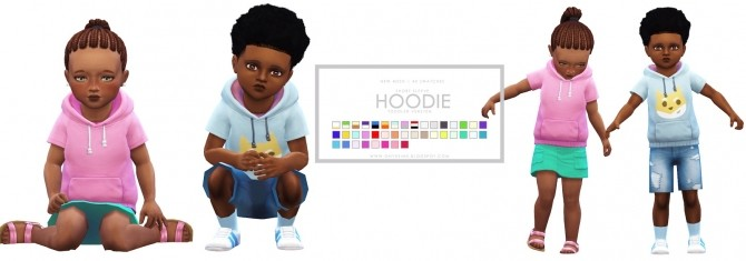 Toddler Short Sleeve Hoodie at Onyx Sims image 3316 670x235 Sims 4 Updates