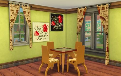 Sims 4 Coffee Set at ChiLLis Sims