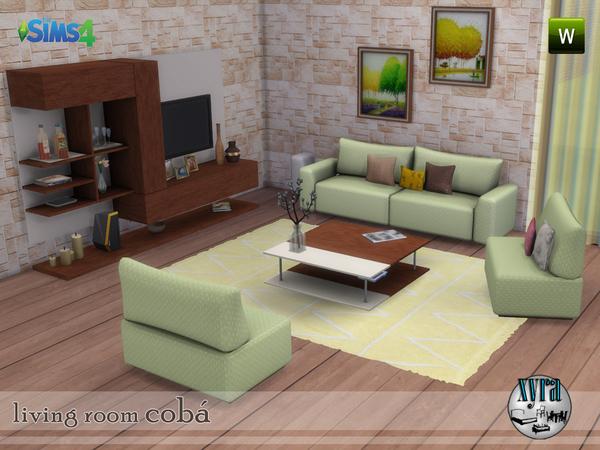 Sims 4 Coba living room set by xyra33 at TSR