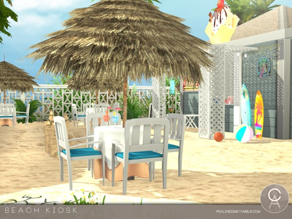 Beach Kiosk by Pralinesims at TSR image 3419 Sims 4 Updates