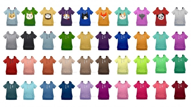 Sims 4 Toddler Short Sleeve Hoodie at Onyx Sims