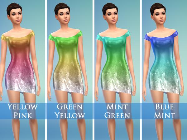 Sims 4 Satin Short Dress by Jaru Sims at TSR