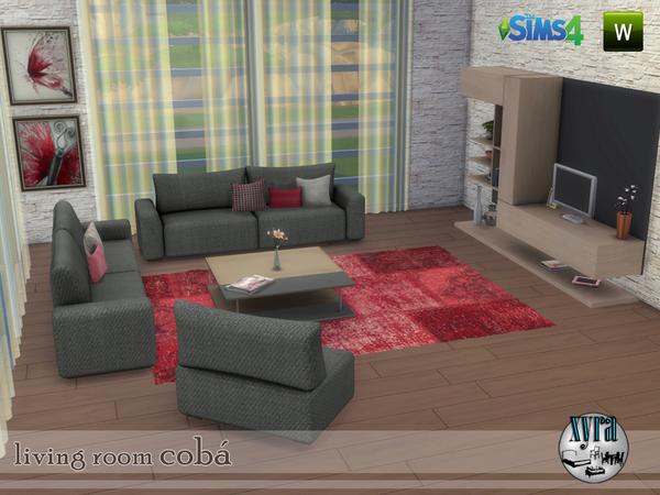 Coba living room set by xyra33 at TSR image 3514 Sims 4 Updates