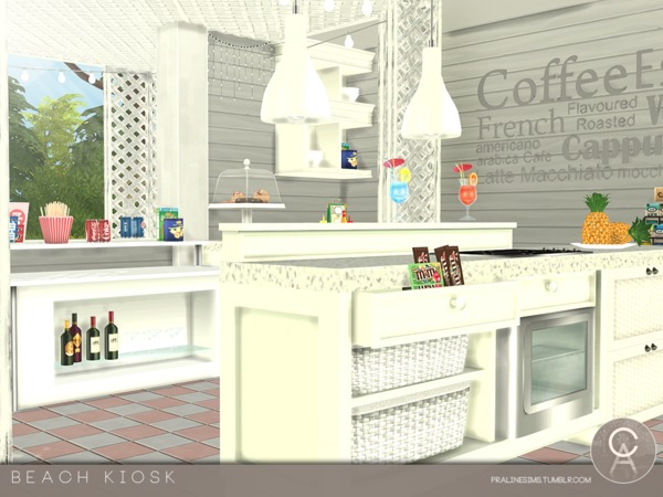 Beach Kiosk by Pralinesims at TSR image 3518 Sims 4 Updates