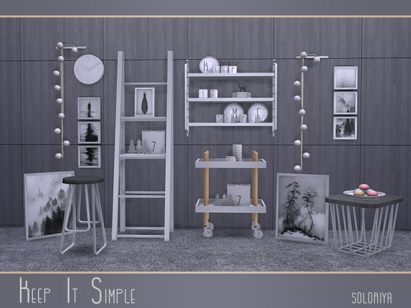 Keep It Simple set by soloriya at TSR image 3520 Sims 4 Updates