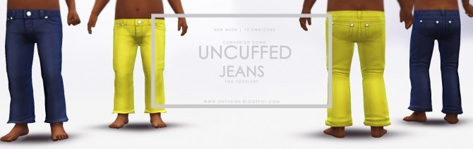 Uncuffed Jeans for Toddlers at Onyx Sims image 357 670x211 Sims 4 Updates