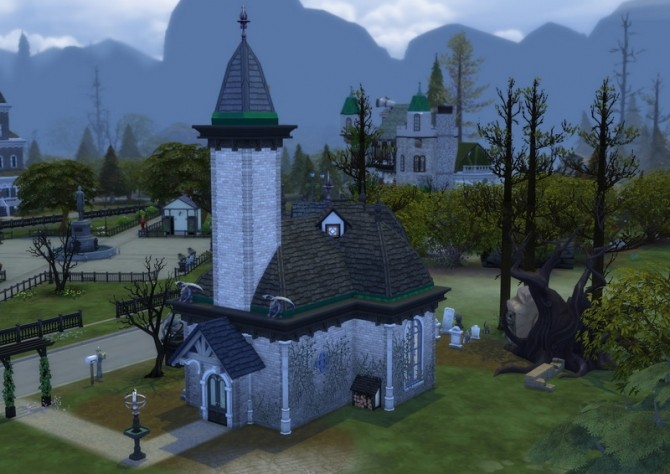 The Vampire Crypt No Cc By Velouriah At Mod The Sims