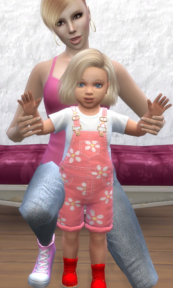 Sims 4 Happy first Birthday Poses for Mother and Toddler by buitefr1 at Mod The Sims
