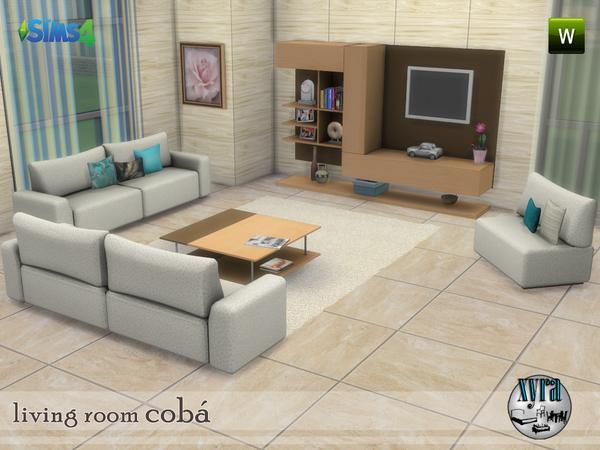Coba living room set by xyra33 at TSR image 3615 Sims 4 Updates