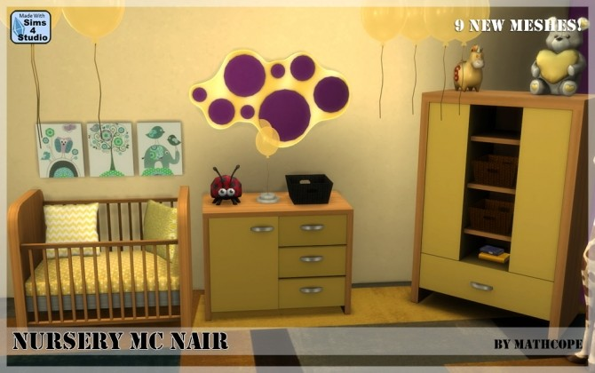 Nursery Mc Nair by Mathcope at Sims 4 Studio image 3618 670x420 Sims 4 Updates