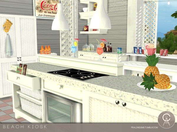 Beach Kiosk by Pralinesims at TSR image 3619 Sims 4 Updates