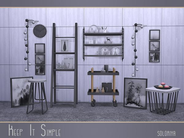 Keep It Simple set by soloriya at TSR image 3621 Sims 4 Updates