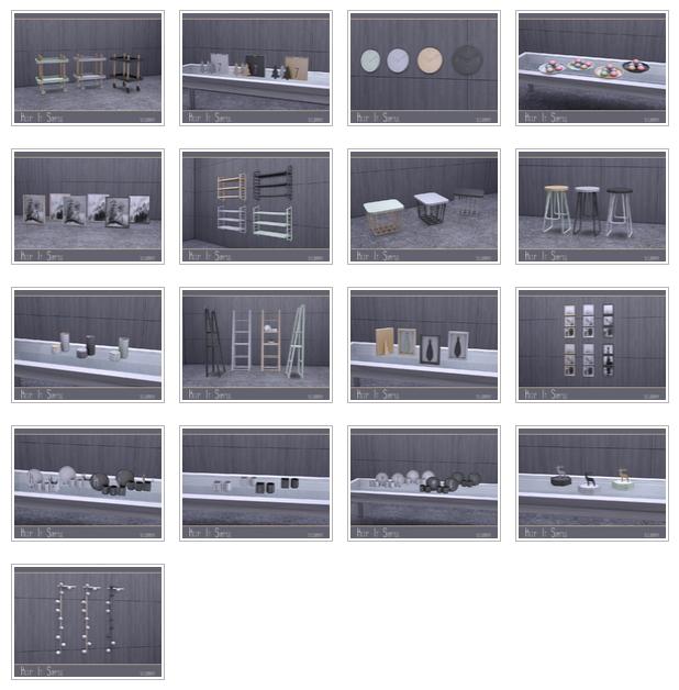 Keep It Simple set by soloriya at TSR image 3721 Sims 4 Updates
