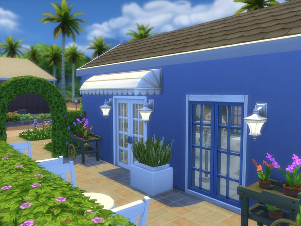Sims 4 La Madeline Bakery by apandatam at TSR