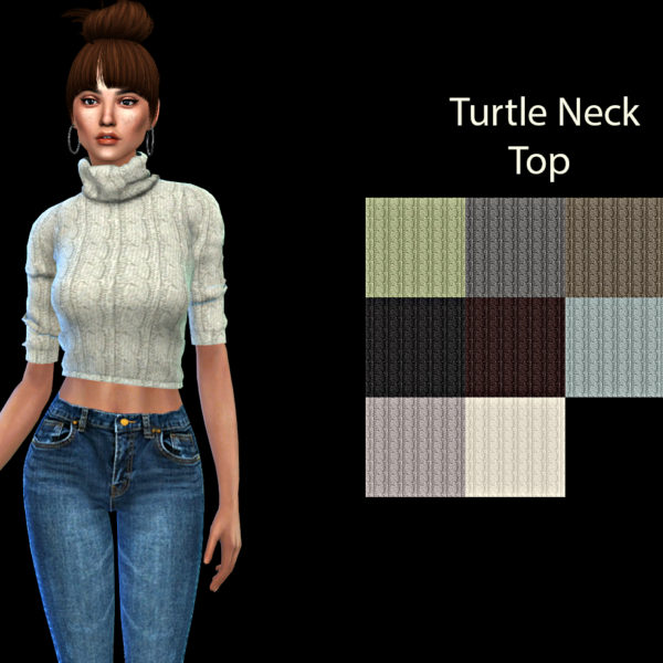 Sims 4 Turtle Neck Top at Leo Sims