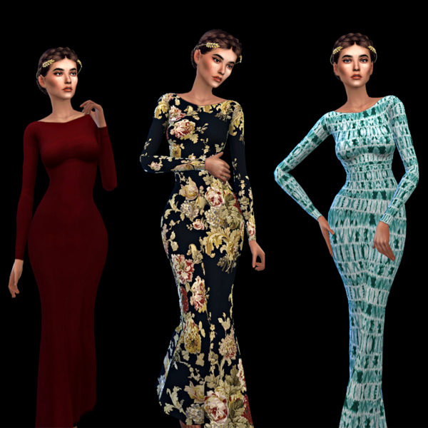 Sims 4 Backless Gown Dress at Leo Sims