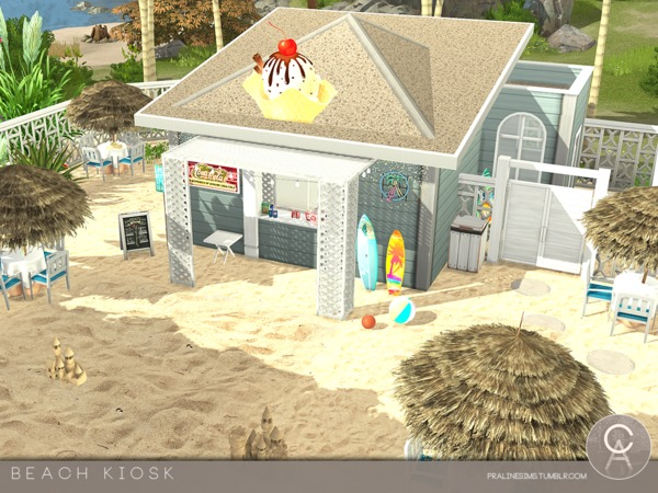 Beach Kiosk by Pralinesims at TSR image 3819 Sims 4 Updates