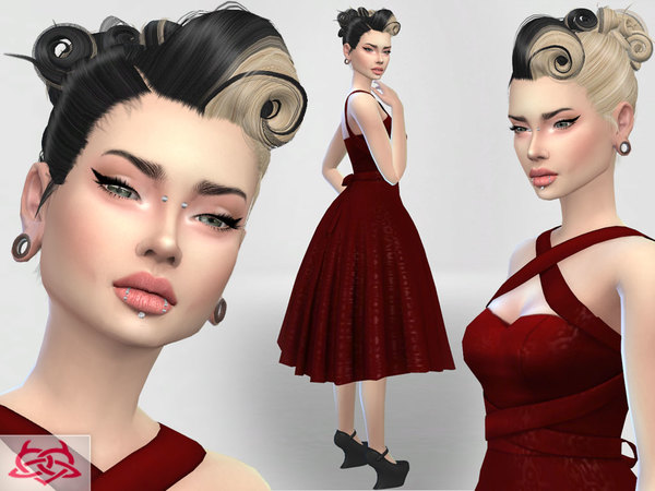 Set 4 dress, hair, shoes by Colores Urbanos at TSR image 3821 Sims 4 Updates