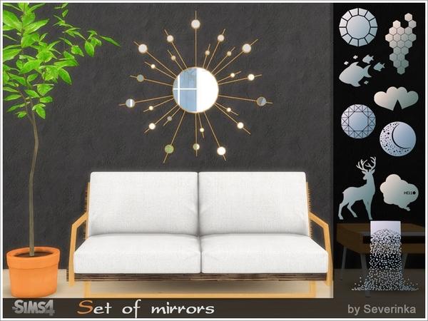 Sims 4 Set of mirrors by Severinka at TSR
