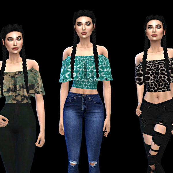 Sims 4 Ayvan Top at Leo Sims