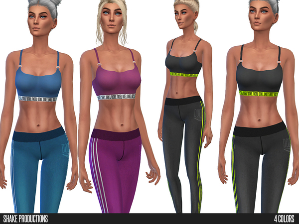 Sims 4 Sportswear 60 SET by Shake Productions at TSR