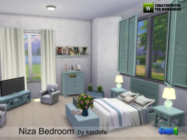 Niza Bedroom by kardofe at TSR image 4012 Sims 4 Updates