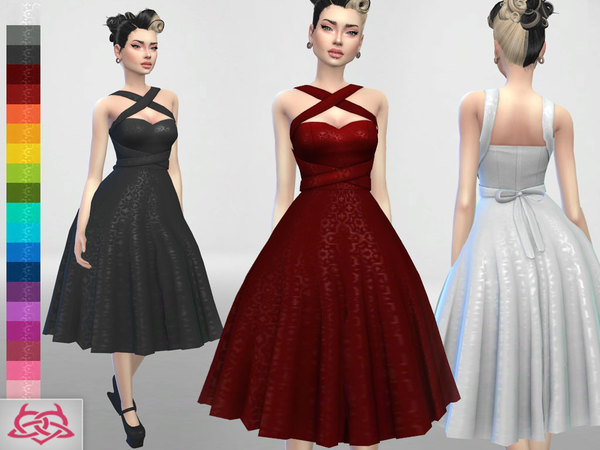 Set 4 dress, hair, shoes by Colores Urbanos at TSR image 4019 Sims 4 Updates