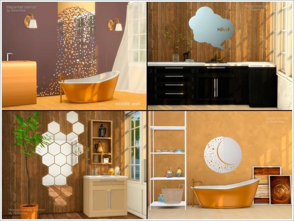 Set Of Mirrors By Severinka At Tsr 187 Sims 4 Updates