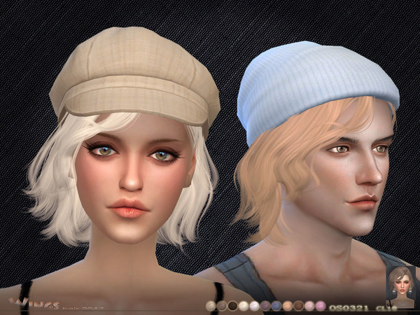 OS0321 hair by wingssims at TSR image 4108 Sims 4 Updates