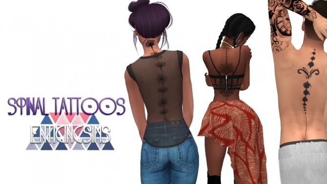 Spinal Tattoos by EnticingSims at SimsWorkshop image 4114 670x377 Sims 4 Updates