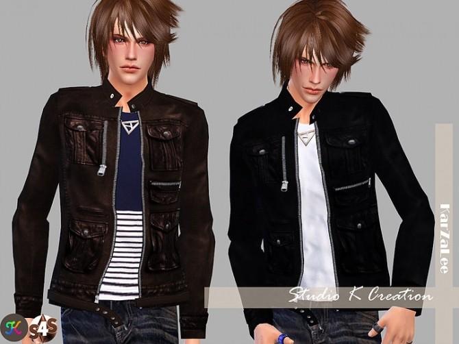 Giruto 19 Leather Jacket at Studio K Creation image 417 670x502 Sims 4 Updates