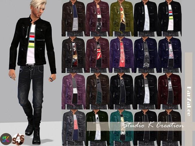 Giruto 19 Leather Jacket at Studio K Creation image 418 670x502 Sims 4 Updates