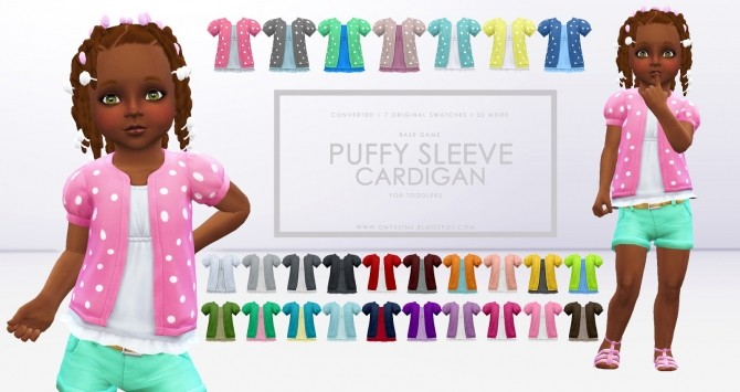 Sims 4 Puffy Sleeve Cardigan for Toddlers at Onyx Sims