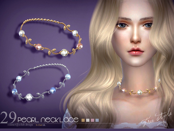 Necklace N16 by S Club LL at TSR image 4220 Sims 4 Updates