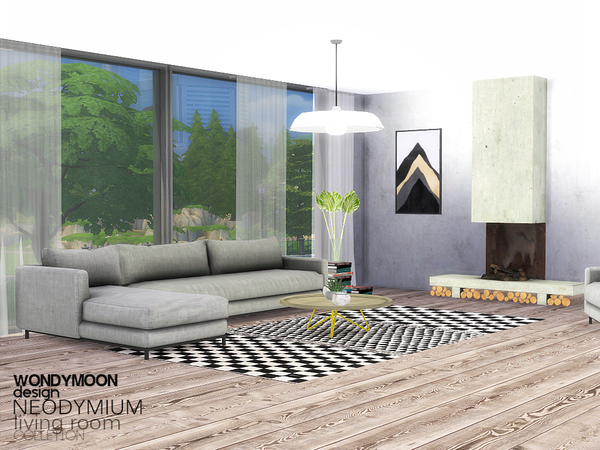 Neodymium living room by wondymoon at tsr sims 4 updates for Living room sims 4