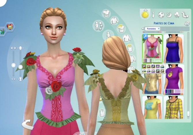 Fairy Rose Top Conversion At My Stuff 187 Sims 4 Updates