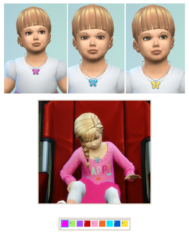 Sims 4 Butterfly necklace for Toddler at Birksches Sims Blog