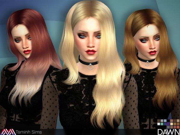 Dawn Hair 29 by TsminhSims at TSR image 4417 Sims 4 Updates