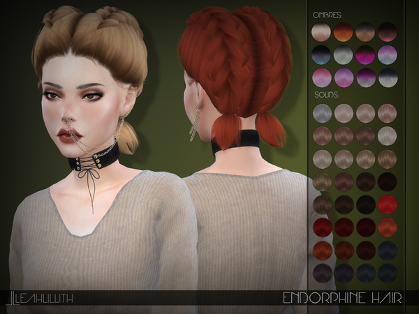 Endorphine Hair by Leah Lillith at TSR image 4419 Sims 4 Updates