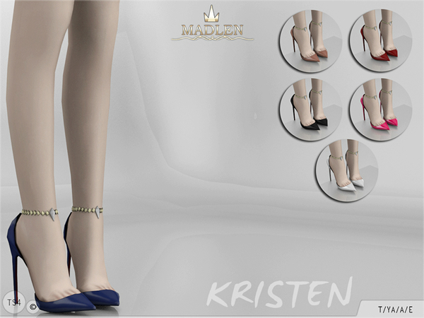 Sims 4 Madlen Kristen Shoes by MJ95 at TSR