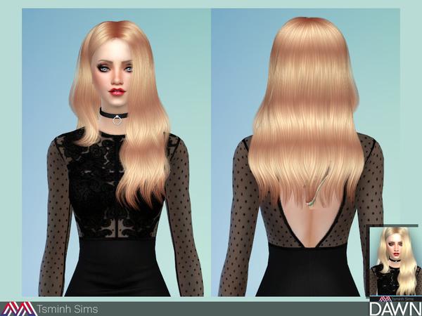 Dawn Hair 29 by TsminhSims at TSR image 4519 Sims 4 Updates