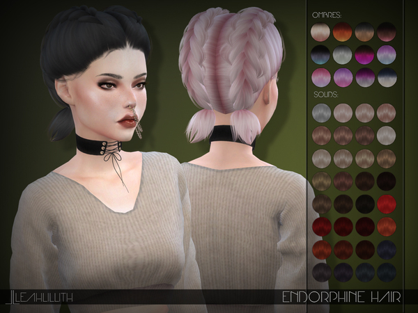 Endorphine Hair by Leah Lillith at TSR image 4521 Sims 4 Updates