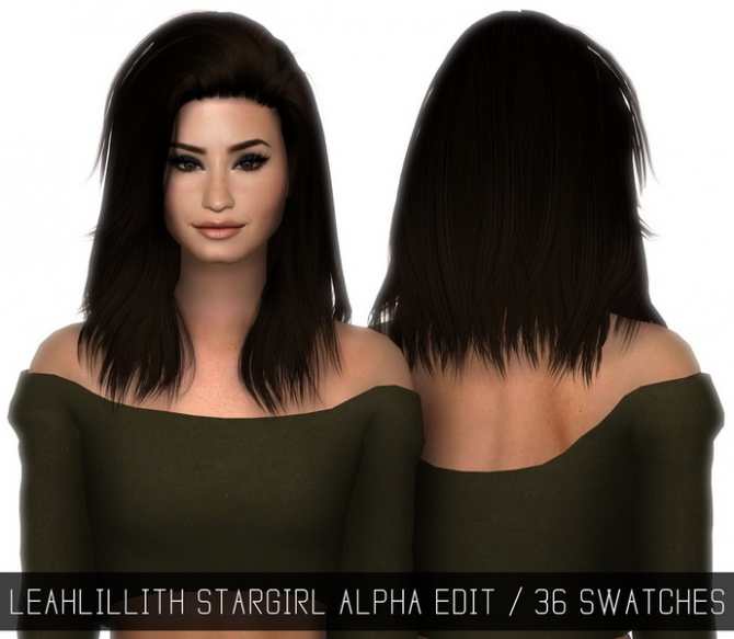 Leahlillith Stargirl Hair Alpha Edit At Simpliciaty 187 Sims