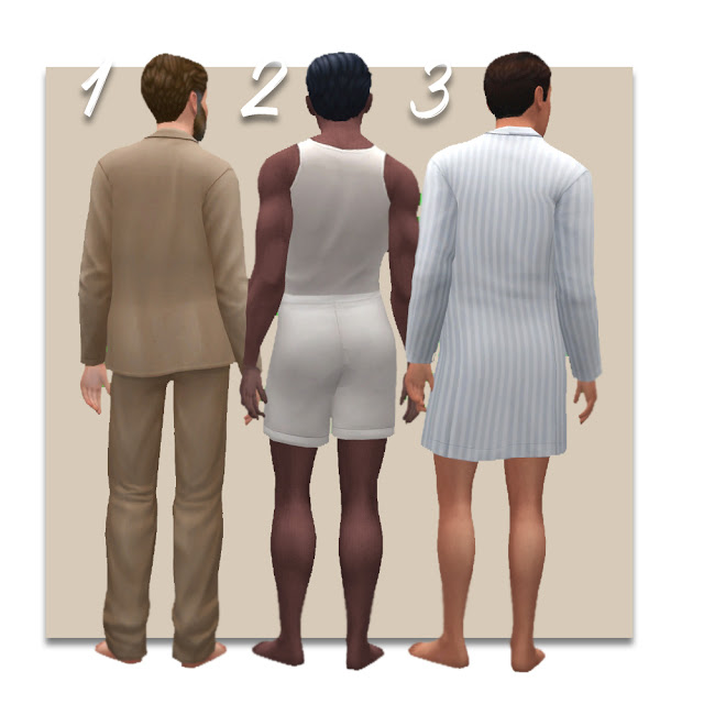 Edwardian Mens Nightwear at Historical Sims Life image 456 Sims 4 Updates