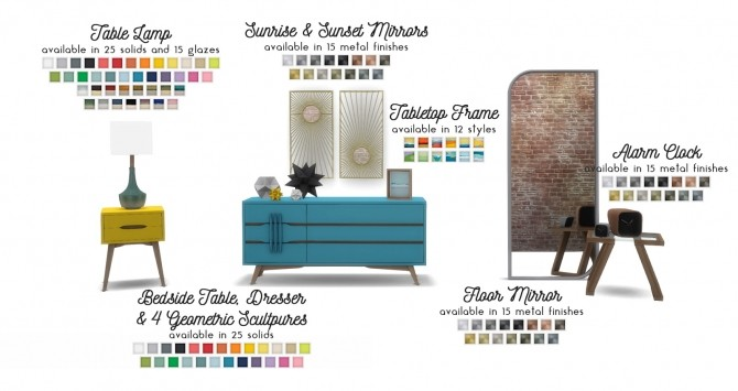 Sims 4 Mid Century Abode: Add on Bedroom Set at Simsational Designs